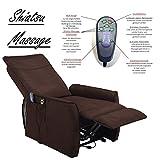Fernsehsessel mit Aufstehhilfe und Shiatsu Massagefunktion / elektrisch verstellbarer TV Relaxsessel dunkelbraun