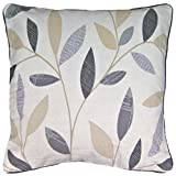 ShawsDirect Beechwood, 100% Cotton, Piped Edge, Single Scatter Cushion Cover, 43cm/17in Square (Charcoal)