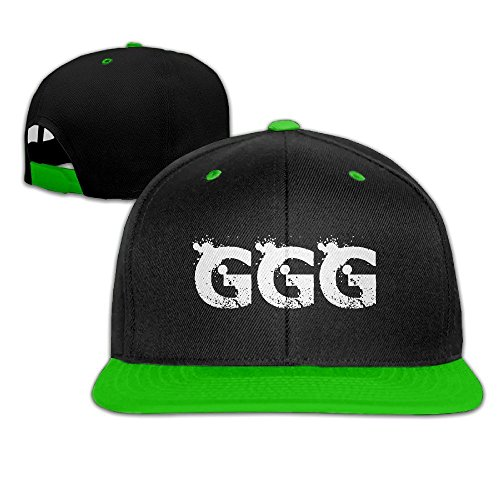 Hittings Boxing King GGG Adjustable Snapback Hip-hop Cap Baseball Hats KellyGreen