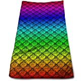 sexy world Rainbow Fish Scales Microfaser Clean Towels Face Towels Fast Drying Hand Hair Towels for Bath Spa Gym Sport Workout Car Towels 11,8 x 27,5 Zoll