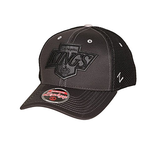 Zephyr NHL LOS ANGELES KINGS Blacklight Curved Snapback Cap