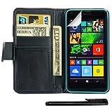 4in1 PREMIUM Wallet mit Fotofach für - Microsoft Lumia 640