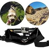 QUMOX Montura cámara arnés ajustable perro para Gopro Hero HD SJCAM SJ4000 wifi ajusta perros 35-120 LBS, Negro