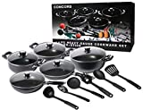 BRAND NEW 16 PIECE CONCORD NON-STICK COOKWARE SET PAN KITCHEN COMPLETE SET