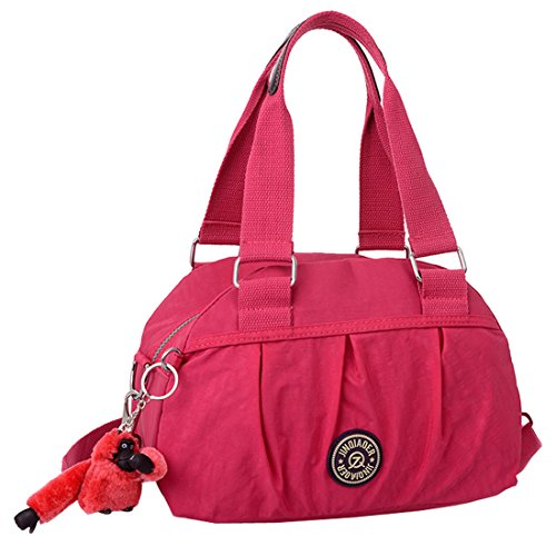 SUXCGE NylonBag, Borsa a spalla donna Rose Red 02 taglia unica Rose Red 02