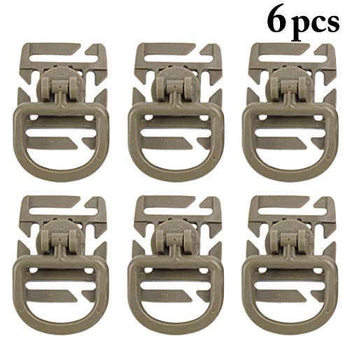Fansport 6PCS Buckle Pendant Shaped D Backpack Swivel Clip Pendant for Outdoor