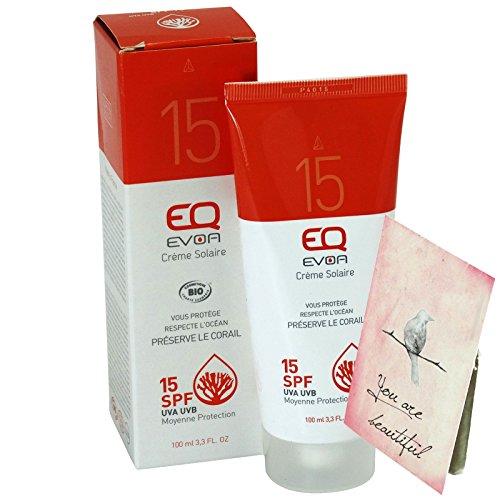 EQ EVOA - Sonnencreme Sonnenlotion LSF 15 - Zuverlässiger Sonnenschutz ideal für sensible Haut - Wasserfest - Spendet Feuchtigkeit