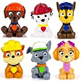 PAW PATROL - Stella, Chase, Marcus, Ruben, Zuma et Rocky - 6 Mini Figurines...