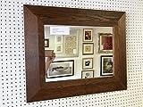 Modec Mirrors 95mm Geformte Wand- und Kaminspiegel Walnuss gebeizt, Verschiedene Spiegel, Glas, 109,2x 78,7cm (109cm. x 79cm)