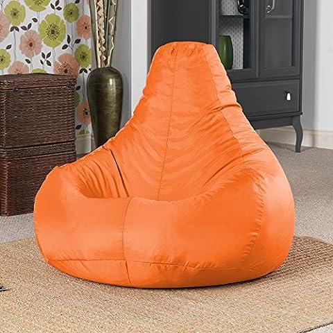 Designer Recliner Gaming Bean Bag TANGERINE ORANGE - Waterproof Indoor & Outdoor Beanbag Chair by Bean Bag