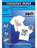 Photo Paper Direct Inkjet Papel Transfer en camisetas claras (de Premium Blue Grid) DIN A3, 10 hojas
