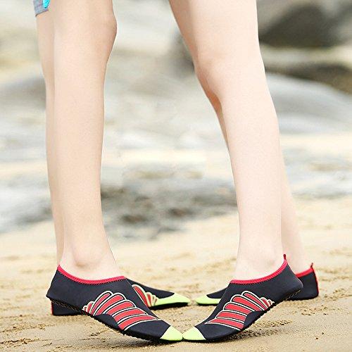Xinyi Aqua Water scarpe spiaggia nuoto, asciugatura rapida slip on yoga scarpe di calzini per unisex, Panno, A20, 3XL43-44 A10