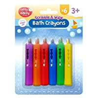 Upsy Daisy Scribble and Wipe Bath Crayons 6pk x 2 | Washable Crayons Baby Bath Toy | Includes Free eBook on Tips to What Exactly Your Baby Needs