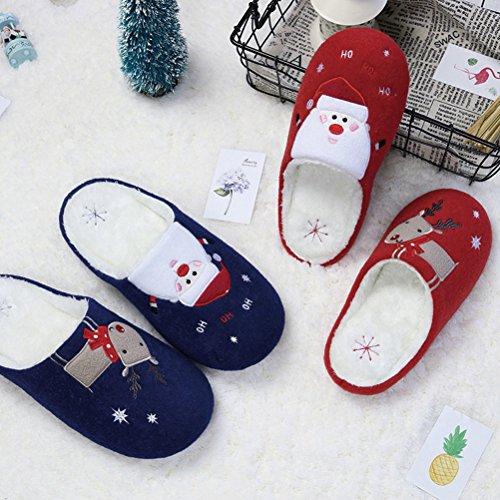 Di Donne Stivaletti Festa Caviglia Natale Inverno Festival Caldo Rosso babbo Auspicio Uomini Unisex Natale Pantofole Buon Inizio UdHwqU