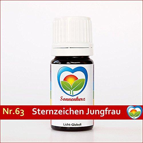 Energetische & feinstoffliche Sonnenglobuli Nr. 63 Sternzeichen Jungfrau von Sonnenherz - informierte Globuli
