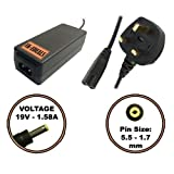 'Uk-edeals® Top Quality Charger For Dell Inspiron Mini 1012 1018 Netbook Adaptor Charger W946j + Lead Power Cord Ordinateur Portable Adaptateurs Chargeur Pour With Lead Power Cord Cable