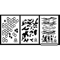 Ácido táctica ®, 3unidades–23x 35cm hexacam, Multicam, Jag camuflaje vinilo aerógrafo Spray de pintura plantillas–Duracoat pistola de Cerakote