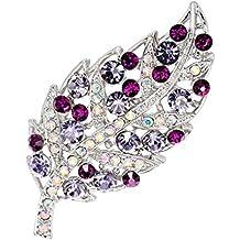 lumanuby aleación de broche flor broche de moda para boda chal para amante regalo de Navidad