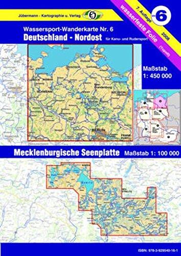 Buchcover Wassersport-Wanderkarte / Kanu-und Rudersportgewässer: Jübermann Wassersport-Wanderkarten, Bl.6, Deutschland Nordost