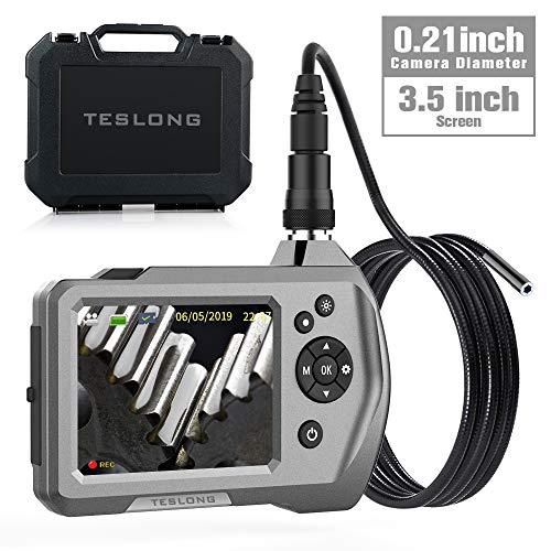 Teslong Video Endoskop, Hand Industrie-Endoskop-Inspektionskamera mit 3,5-Zoll-LCD-Bildschirm 5,5 mm Durchmesser Flexible Sonde wasserdichte Kamera (3M)