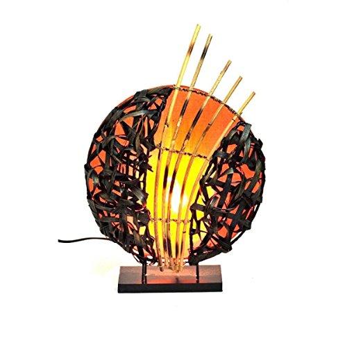 Deko-Leuchte Stimmungsleuchte Stehleuchte Tischleuchte Tischlampe Bali Asia Feng Shui Color Orange - Asiatische Tischleuchte