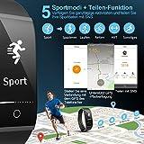 Mpow Fitness Tracker mit Pulsmesser, Wasserdicht Fitness Armbänder Intelligente Armbanduhr Aktivitätstracker Pulsuhr Schrittzähler Uhr Smartwatch Anruf SMS Beachten für iOS Android Handy - 2
