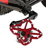 Adattatore per bici da strada a pedale Clipless to Pedals Universale per bici MTB, dimensioni: piccolo, 1 pz Strumento per l'assemblaggio di parti di biciclett ( Colore : Rosso )
