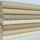 Always Knitting And Sewing Fat Quarter Bundles Basics Range - 100 % Cotton Fabric, Beige/cream