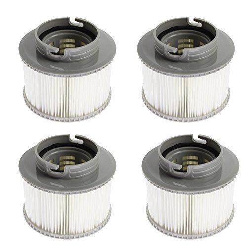First4Spares - Ersatz Filter Kartuschen für MSpa Bubble Spa Whirlpool Packung von 4 (Verbesserte 2014 fassung passt MSPA Modelle)