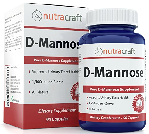 #1 D-Mannose Supplement – 1500mg per Serve To Combat Urinary Tract Infections & Support Urinary Health – 100% Pure With No Preservatives or Gluten – Made In The USA – 90 Capsules Test