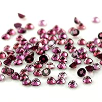 Be You Redish Purple Natural Indian Rhodolite AAA Quality 1.25 mm Brilliant Cut Round 10 pcs Loose gemstone