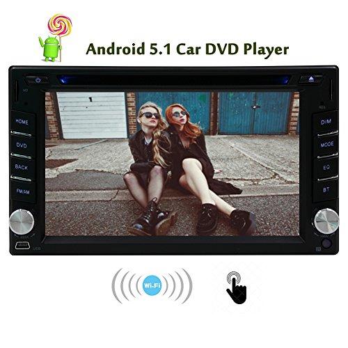 6.2 pollici Android 5.1 Lollipop Quad Core Radio autoradio Doppio Din in precipitare capo unitš€ GPS di sostegno di navigazione DVD CD RDS Radio SD USB Subwoofer 3G WIFI OBD2 - Quad Capo