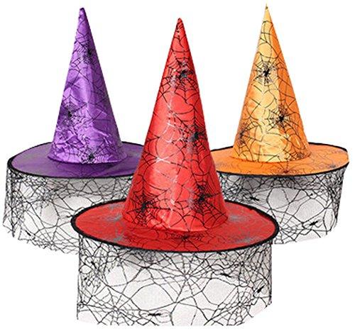 loween-Party Hüte Kürbishut Powwow Hut Hexenhut B zufällige Farbe ()