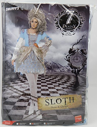 Original Lizenz Sieben Todsünden Kostüm für Damen Feekostüm Trägheit Barock Venedig Halloween Damenkostüm Halloweenkostüm Gr. 36/38 (S), 40/42 (M), 44/46 (L), (Todsünden Kostüm)