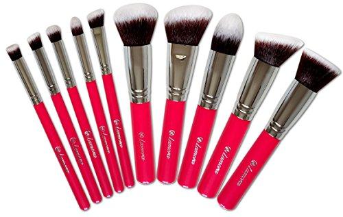 Kabuki Pinsel Set - Make Up Foundation Kosmetik Pinselset - 10 Teiliges Premium Schminkpinsel Set...