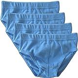 HERMKO 2850 4er Pack Jungen Slip einfarbig aus 100% Baumwolle mit Dehnbund