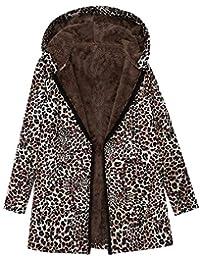 Damark Abrigos Abrigo de Invierno Capucha para Mujer, Estampado Floral con Capucha Cremallera CáORigan Blusa Tops Sueter