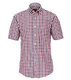 Casa Moda - Casual Fit - Herren Freizeit 1/2-Arm-Hemd in Verschiedenen Farben mit Button-Down-Kragen, in Großen Größen (983078900), Farbe:Rot (400), Größe:XXL