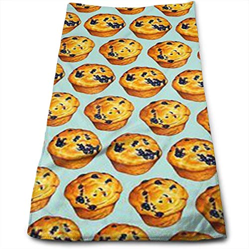 """Bath Towels Golden Blueberry Sponge Cake Face Towels Highly Absorbent Washcloths Multipurpose Towels for Hand Face Gym and Spa 12"""" X 27.5"""""""