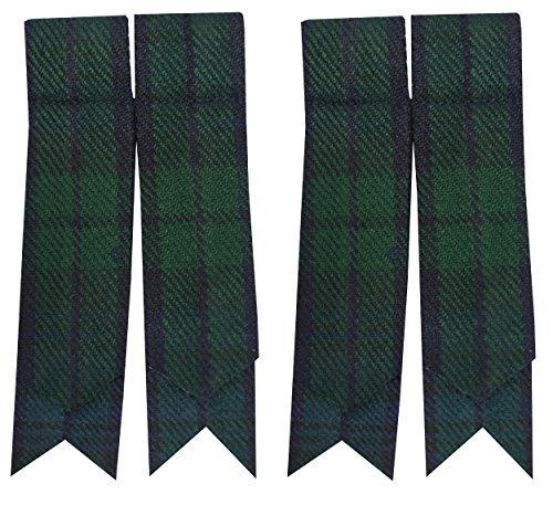 Schottische Kilt-Flashes, verschiedenen Tartanstoffe, spitz zulaufend Größe L Mehrfarbig - Black Watch (Hosen Wolle Waschbar)