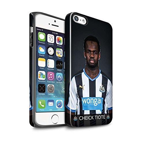 Offiziell Newcastle United FC Hülle / Glanz Harten Stoßfest Case für Apple iPhone SE / Pack 25pcs Muster / NUFC Fussballspieler 15/16 Kollektion Tioté
