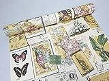 Vintage Kontakt Papier selbstklebend Rolle Feuchtigkeit Proof Stempel Poster Schubladen Regal rutschsicher 45x 998,2cm