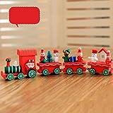Xshuai 21x2.7x5cm Frohe Weihnachten Dekorationen Weihnachten Woods Kleine Zug Kinder Geschenk Kindergarten Festliche Xmas Decor (Multicolor A / B / C) (B)