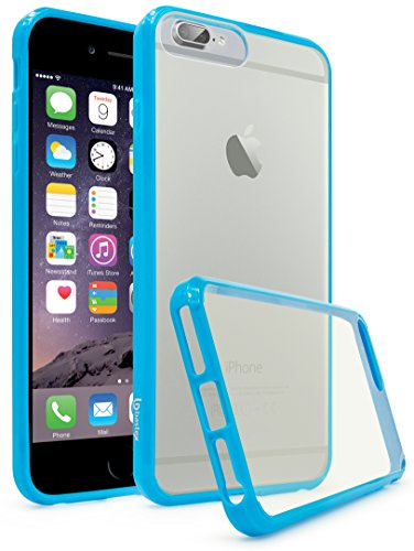 BASTEX iPhone 7Plus Fall, Slim Fit Flexible Transparent Backcover Transparent Gummi Fused Sky Blau Seite Bumper Snap Case für Apple iPhone 7Plus/7Pro - Iphone Handy Mobile Virgin
