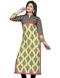 Shubhangie Kurties For Women Black And Off White Cotton Kurta For Girls,Kurtis For Girls New Fashion, Kurtis,Latest...