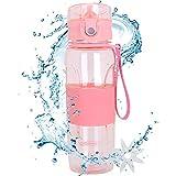 MaYee Botella de Agua Deportiva Sin BPA   Botella Agua Deporte 500ml   Cantimplora Agua para Gimnasio, Oficina, Aire Libre, Yoga, Camping, Bicicleta