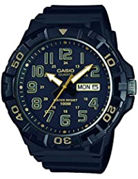 Casio Collection – Herren-Armbanduhr mit Analog-Display und Resin-Armband – MRW-210H-1A2VEF