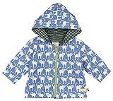 loud + proud Unisex Baby Regenmantel Wasserabweisende Jacke, Blau (Water Wa), 80 (Herstellergröße: 74/80)