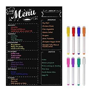 MoKo Magnetisch Whiteboard für Küche Kühlschrank mit 8 Farbigen Stiften, 16