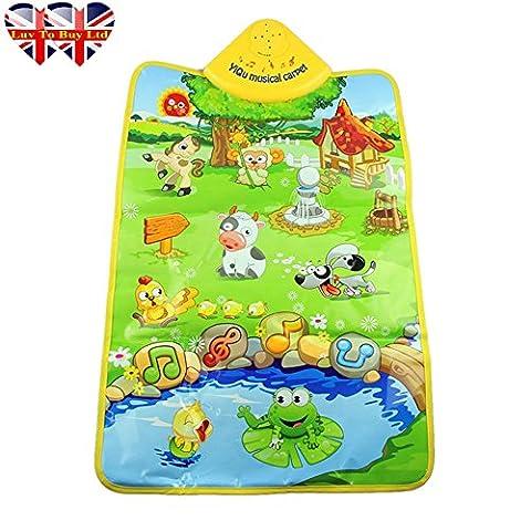 Baby-Spiel-Matte, Musik Teppich, Kunststoff Farm Musical Teppich